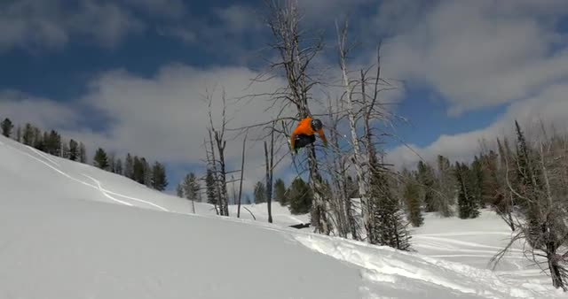 Backcountry snowboarding jumps