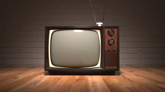 old vintage television set retro color tv oldschool stock footage